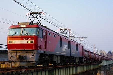 5094レ 安中貨物 EH500-15+タキ12B@安中鉄橋