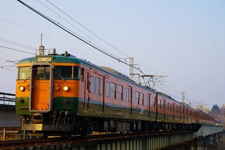 信越本線145M 115系湘南色6連@安中鉄橋