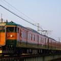 Photos: 信越本線145M 115系湘南色6連@安中鉄橋