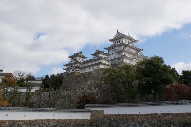 姫路城【11_三国堀から見た天守閣】2