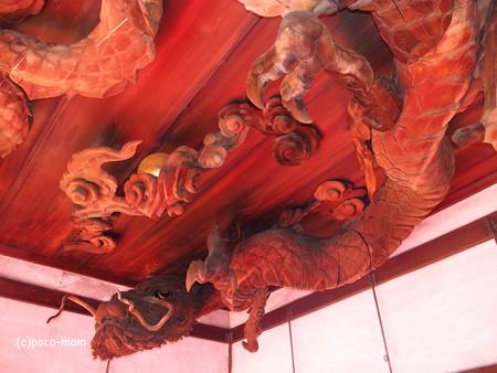瀧尾神社 拝殿の龍 PC110797
