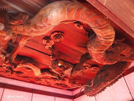 瀧尾神社 拝殿の龍 PC110801