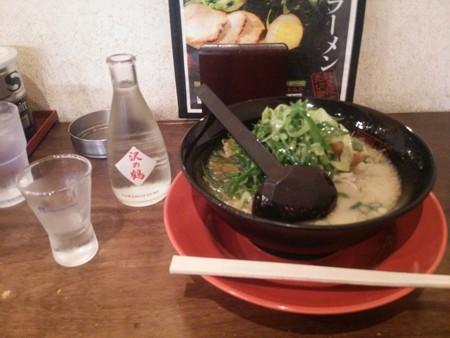 日本酒と拉麺