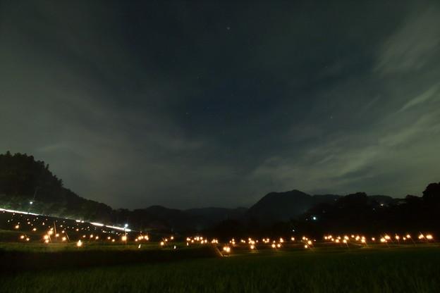写真: 星降る棚田