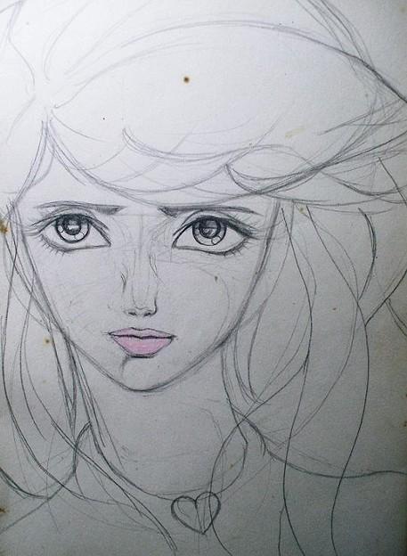 少女像 鉛筆画 1976年?