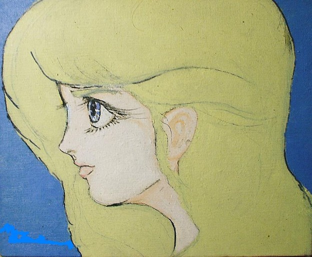 少女の横顔 油彩 1992年
