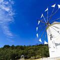 写真: ギリシャ風車