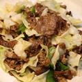 中華風!牛肉とキャベツの炒め物500円