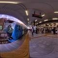 静岡鉄道静岡清水線 新静岡駅ホーム 360度パノラマ写真 HDR