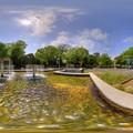 2013年5月15日 駿府城公園 噴水 360度パノラマ写真 HDR