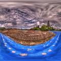 2016年9月3日 駿府城公園 駿府城天守台発掘現場 360度パノラマ写真 HDR