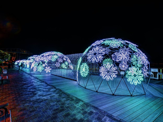 写真: 「清水港 海と光の空間」 清水港・エスパルスドリームプラザのイルミネーション(3)