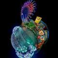 写真: 「清水港 海と光の空間」 清水港・エスパルスドリームプラザのイルミネーション Little Planet(1)