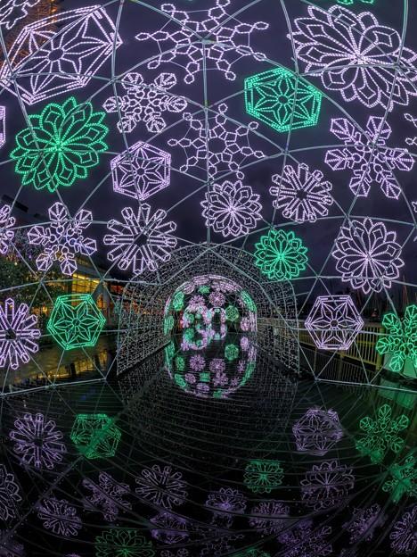 「清水港 海と光の空間」 雨の中で見る清水港・エスパルスドリームプラザのイルミネーション(1)