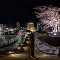 2017年1月7日 浜松駅前 夜景 360度パノラマ写真
