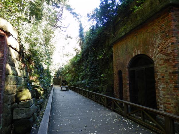 明治時代の要塞の遺跡