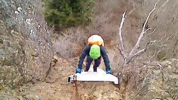 下山開始w 氷点下でデジカメも使えず・・・