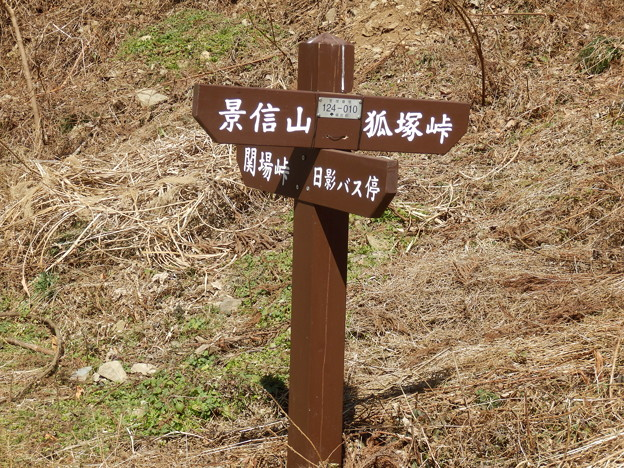 景信山への道標発見