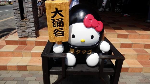 大涌谷の黒たまごキティ―ちゃん^^