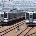 Photos: 高萩駅留置されている415系1500番台