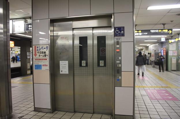 大阪市営地下鉄堺筋線 日本橋駅2番線ホーム エレベーター