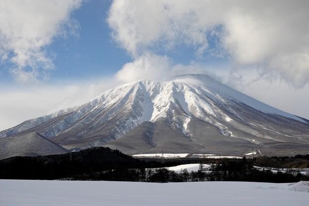 12.大石渡から見た真冬の岩手山(一部加工修正)