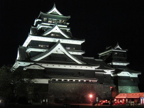 Photos: 中秋の名月 熊本城3