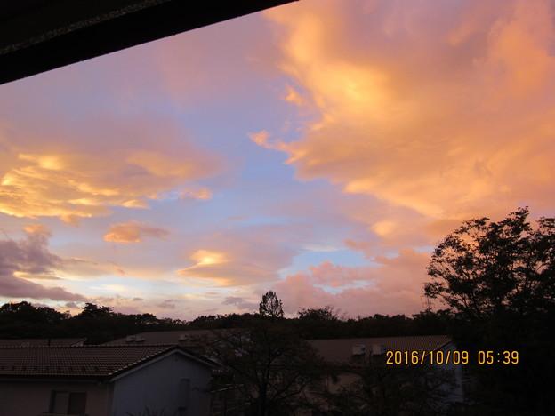 雲が流れるのが早かったのです