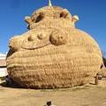 大きな藁アート