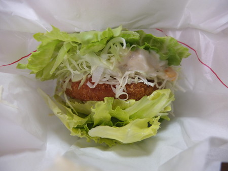 モスバーガー上越高田店 モスの菜摘(なつみ)海老カツ(期間限定)¥390
