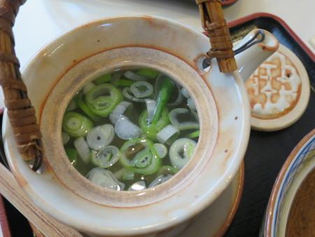 らー麺 天心 焼海老つけ麺 割りスープ