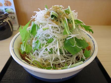 かつや上越店 増し増しやさいの塩カツ丼(期間限定)¥637