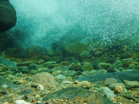大泡の水中の様子