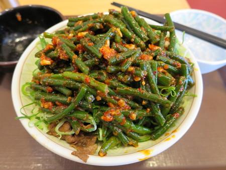 すき家 上越高土店 牛丼中盛、ニンニクの芽(期間限定)ダブル&青ねぎトッピング アップ
