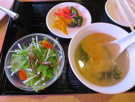 上海大食堂 ライスセット 副菜の様子