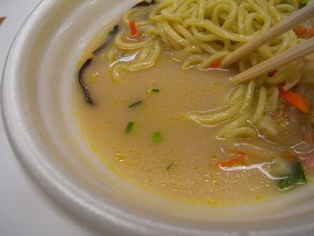 デイリーヤマザキ 野菜ちゃんぽん スープアップ