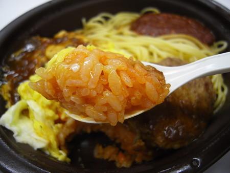 セブンイレブン 洋食セット(オムライス&ミートソース) ケチャップライスアップ