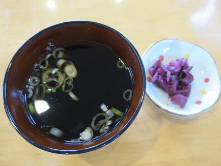 越善 本店 天玉丼(20食限定) 副菜の様子