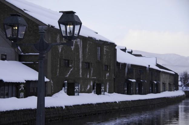 小樽雪明りの路 冬の運河