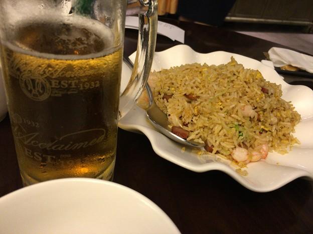 2016/10/07 「9 Goubuli」で夕御飯。ビール&五目炒飯