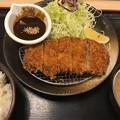 写真: 味噌ロースカツ定食