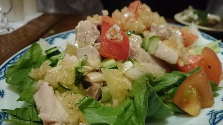 鶏肉夏野菜サラダ