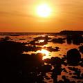 早春の日本海 夕景