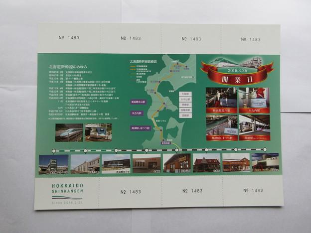 北海道新幹線開業1周年記念入場券