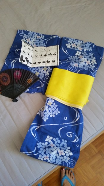 Japanese summer blue Yukata [$25]