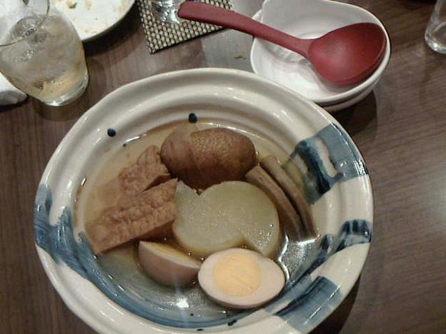 Photos: おまけ(2)文次郎さんのおでん。相方と二人でうかがったので、選んだ具...