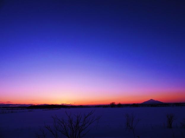 Photos: 静かなる雪原の夕暮れ