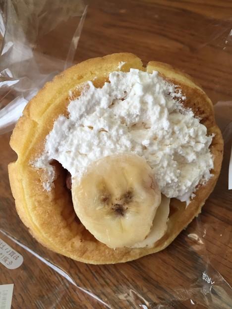バナナとクリームのワッフル