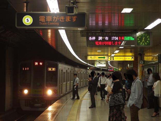 都営新宿線曙橋駅1番線 都営10-280F各停調布行き進入