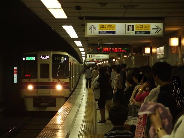 京王新線初台駅2番線 京王9045区急本八幡行き進入